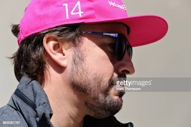 Fernando Alonso of Spain and McLaren Honda on the drivers parade before the United States Formula One Grand Prix at Circuit of The Americas on...