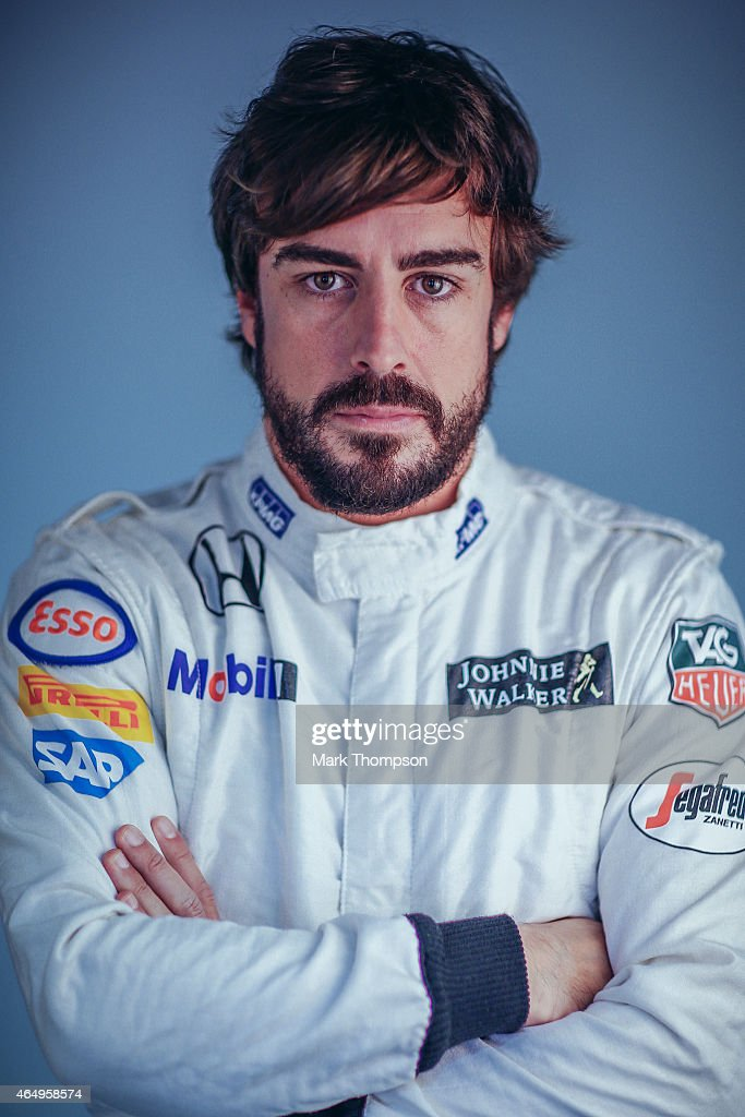 Fernando Alonso of Spain and McLaren Honda poses for a portrait during day three of Formula One Winter Testing at Circuit de Catalunya on February 21, 2015 in Montmelo, Spain.