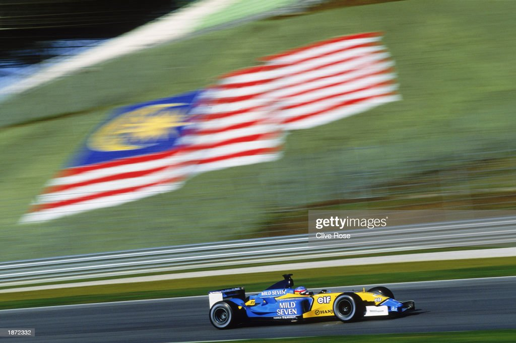 Fernando Alonso of Spain and the Renault team in action during the Formula One Malaysian Grand Prix held on March 23, 2003 at the Sepang International Circuit in Kuala Lumpur, Malaysia.