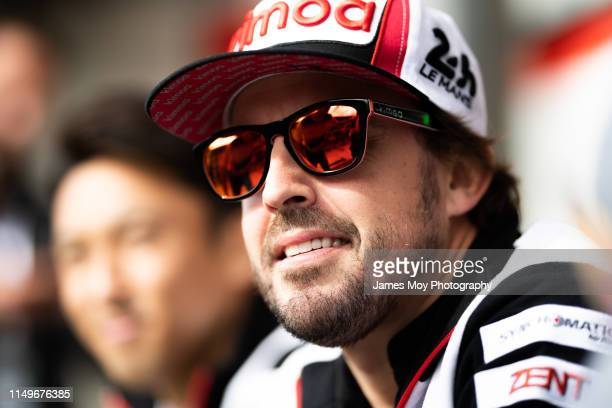 Fernando Alonso of Spain and Toyota Gazoo Racing ahead of the 24 Hours of Le Mans, on June 11, 2019 in Le Mans, France.
