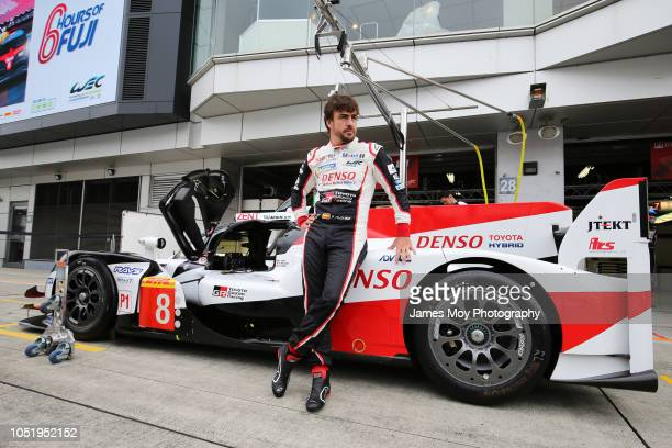 Fernando Alonso of Spain and Toyota Gazoo Racing during practice at Fuji International Speedway on October 12, 2018 in Fuji, Japan.