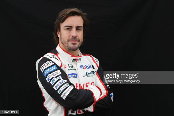 Fernando Alonso of Spain and Toyota Gazoo Racing in a studio photo on preparation day for the WEC 6 Hours Of Spa-Francorchamps, the opening round of...