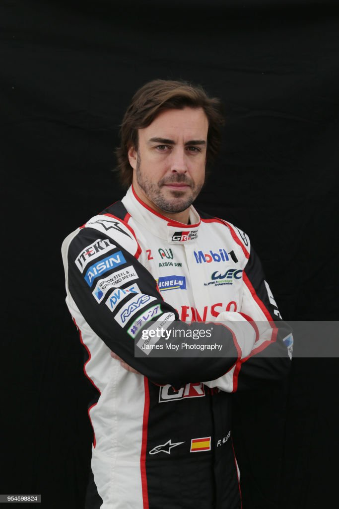 Fernando Alonso of Spain and Toyota Gazoo Racing in a studio photo on preparation day for the WEC 6 Hours Of Spa-Francorchamps, the opening round of the FIA World Endurance Championship Super Season at Circuit de Spa-Francorchamps on May 3, 2018 in Spa, Belgium.