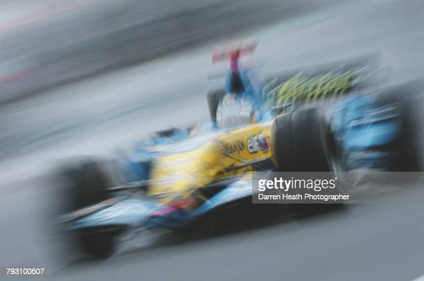 Fernando Alonso of Spain drives the Mild Seven Renault F1 Team Renault RS26 Renault V8 at speed during the Formula One Hungarian Grand Prix on 6...