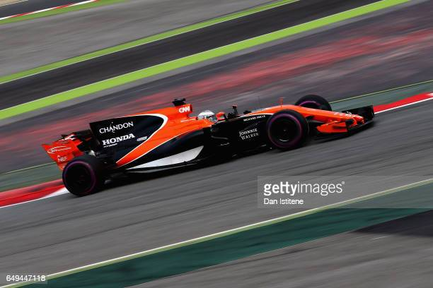 Fernando Alonso of Spain driving the McLaren Honda Formula 1 Team McLaren MCL32 during day two of Formula One winter testing at Circuit de Catalunya...