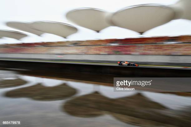 Fernando Alonso of Spain driving the McLaren Honda Formula 1 Team McLaren MCL32 on track during practice for the Formula One Grand Prix of China at...