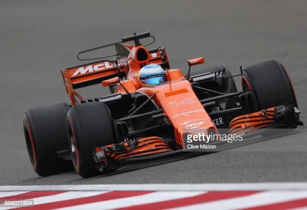 Fernando Alonso of Spain driving the McLaren Honda Formula 1 Team McLaren MCL32 on track during final practice for the Formula One Grand Prix of...