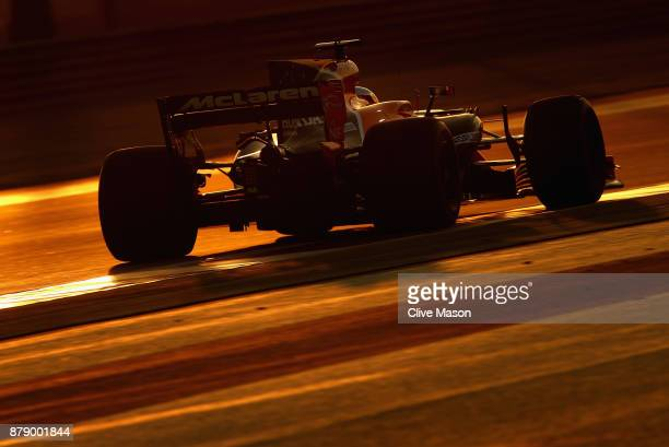 Fernando Alonso of Spain driving the McLaren Honda Formula 1 Team McLaren MCL32 on track during qualifying for the Abu Dhabi Formula One Grand Prix...
