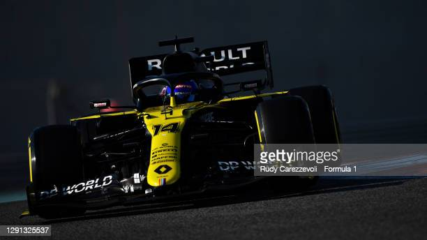 Fernando Alonso of Spain driving the Renault Sport Formula One Team RS20 during the F1 Young Drivers Test at Yas Marina Circuit on December 15, 2020...