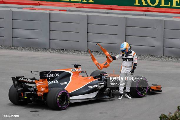 Fernando Alonso of Spain during the Canadian Formula One Grand Prix at Circuit GillesVilleneuve on June 9 2017 in Montreal Canada