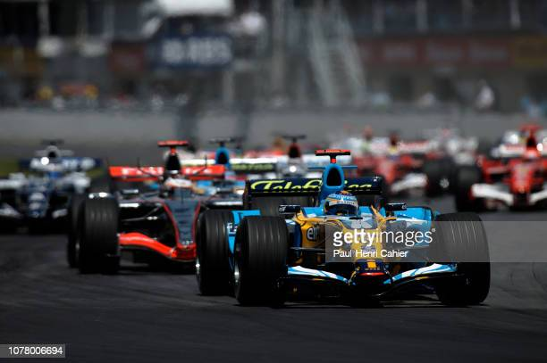 Fernando Alonso Renault R25 Grand Prix of Canada Circuit Gilles Villeneuve 25 June 2006 Fernando Alonso takes the lead on the way to victory in the...