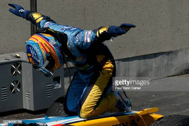 Fernando Alonso Renault R26 Grand Prix of Canada Circuit Gilles Villeneuve 25 June 2006 Fernando Alonso after his victory the 2006 Grand Prix of...