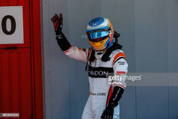 Fernando Alonso team McLaren during the Formula One GP of Spain 2017 Qualifying celebrated at Circuit Barcelona Catalunuya on 13th May 2017 in...