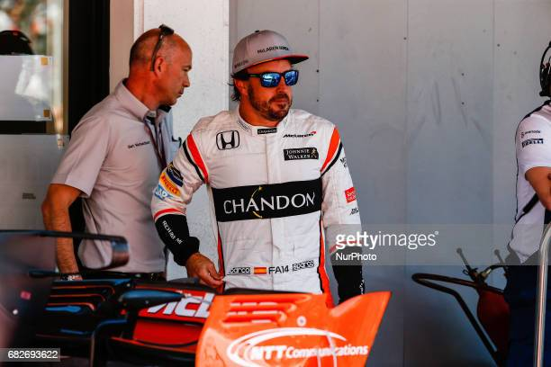 Fernando Alonso, team McLaren during the Formula One GP of Spain 2017 Qualifying celebrated at Circuit Barcelona Catalunuya on 13th May 2017 in...