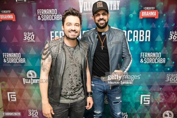 Fernando and Sorocaba before they show at Villa Country on September 21 2019 in Sao Paulo Brazil