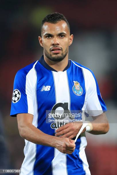 Fernando Andrade of Porto peels off his wrist bandage during the UEFA Champions League Quarter Final first leg match between Liverpool and Porto at...
