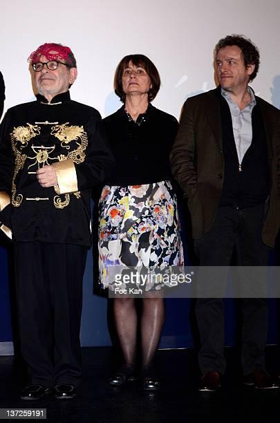 Fernando Arrabal Catherine Millet and Marc Weitzmann attend the 'Prix SaintGermain des Pres 2012 Cinema Awards hosted by 'La Regle Du Jeu' Magazine...
