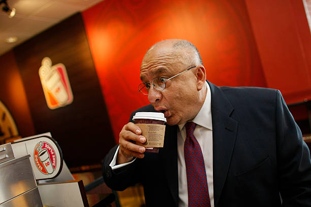 Fernando Baguerio Sips His 99 Cent Dunkin Donuts Latte February 26 2008 In Miami