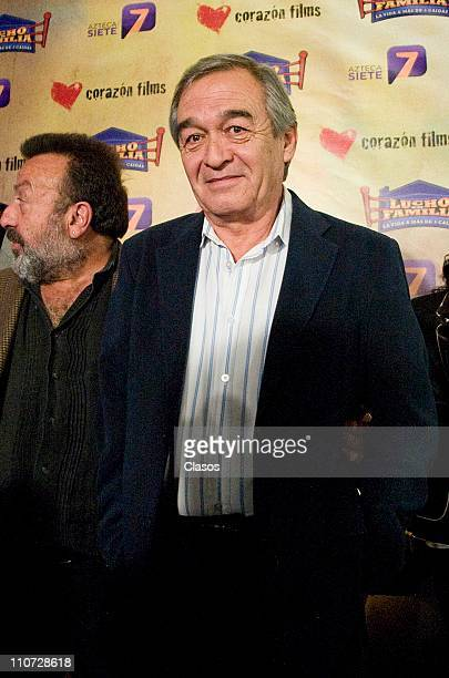 Fernando Becerril attends to the presentation of the tv serie Lucho en Familia at the Camino Real Hotel on March 23 2011 in Tlalnepantla Mexico