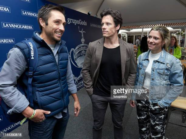 Fernando Belasteguin Octavi Pujades and Anna Senan attends the Barcelona Open Banc Sabadell 2019 at Real Club de Tennis de Barcelona on April 22 2019...