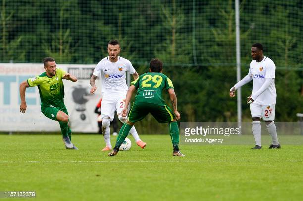 Fernando Boldrin of Kayserispor in action against Roberto Olabe of SD Eibar during a friendly match between Kayserispor and SD Eibar within summer...