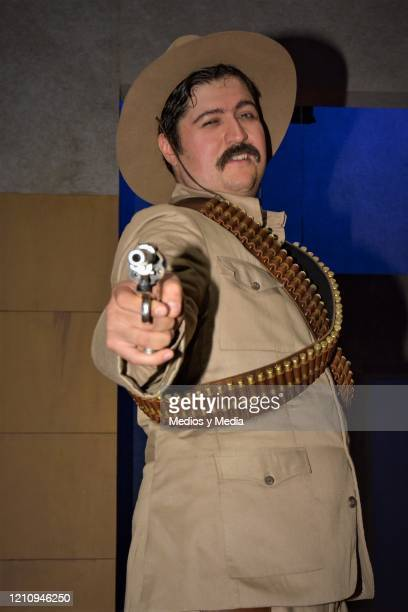 Fernando Bonilla poses for photo as part of the play 'Between Pancho Villa and a Naked Woman' at Rafael Solana Theatre on March 6 2020 in Mexico City...