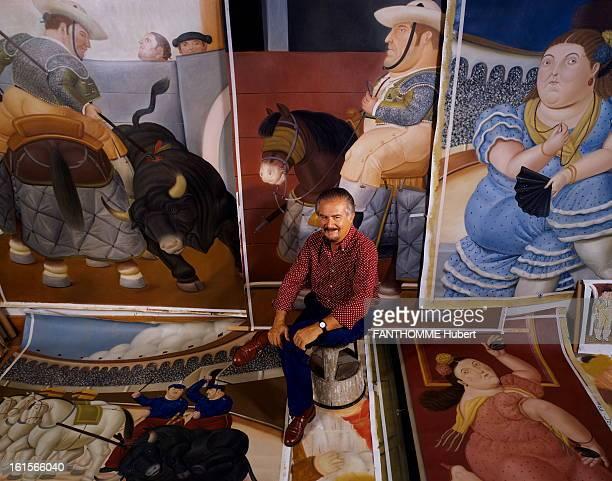 Fernando Botero Painter And Sculptor Paris October 1992 Fernando Botero Colombian painter and sculptor in his studio in the rue du Dragon in Paris...