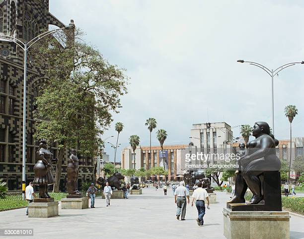 Fernando Botero Statues in Plaza Botero