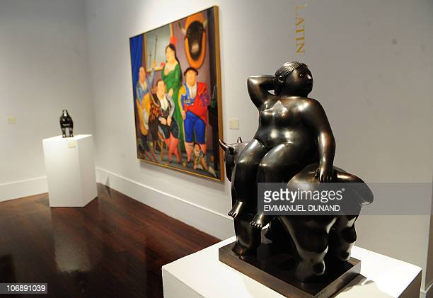 Fernando Botero's El rapto de Europa is on display at Christie's during a press preview of their Latin American Art sales in New York November 15...