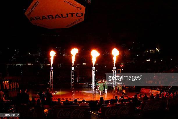Fernando Buesa Arena in action during the 2016/2017 Turkish Airlines EuroLeague Regular Season Round 4 game between Baskonia Vitoria Gasteiz v...