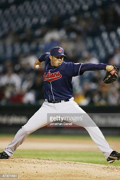 Fernando Cabrera of the Cleveland Indians pitches against the Chicago White Sox during the Opening Day game on April 2, 2006 at U.S. Cellular Field...