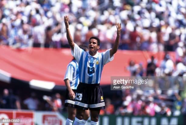 Fernando Caceres Argentine / Roumanie 1/8emeFinale Coupe du Monde 1994 Photo Alain Gadoffre / Icon Sport