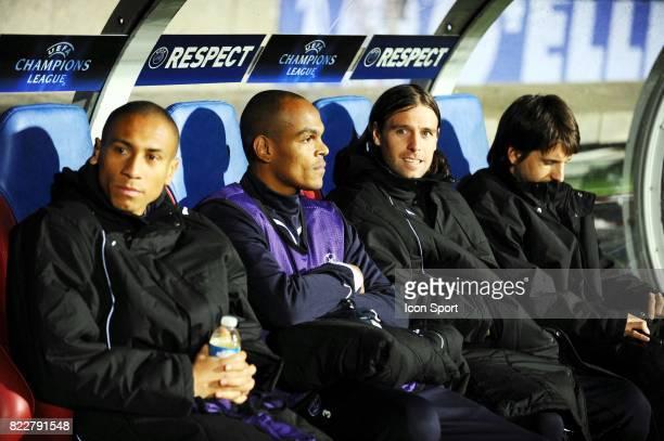 JUSSIE / Fernando CAVENAGHI / HENRIQUE / Diego PLACENTE Lyon / Bordeaux 1/4 finale aller Champions League Stade Gerland Lyon