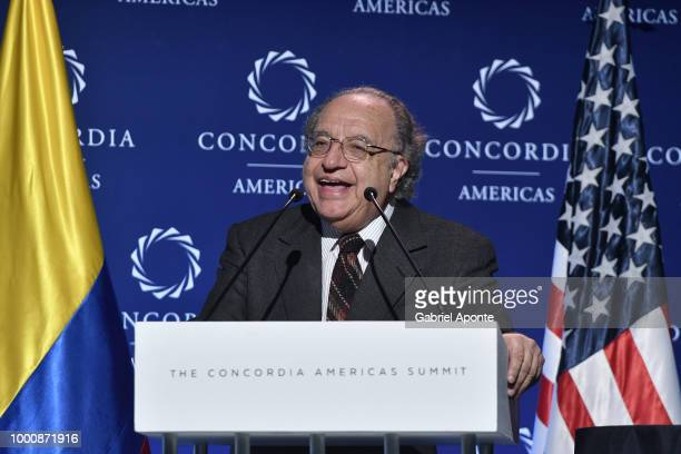 Fernando Cepeda introduce the main speech of Joe Biden Former Vice president of the United States of Amereica as part of the 2018 Concordia Americas...