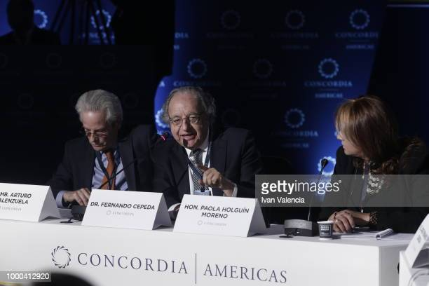 Fernando Cepeda speaks during Venezuela The Local Crisis with Global Impact conversation as part of the 2018 Concordia Americas Summit day 1 at Agora...