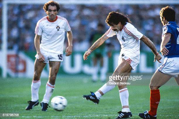 Fernando Chalana of France during the Semi Final Football European Championship between France and Portugal Marseille France on 23 June 1984