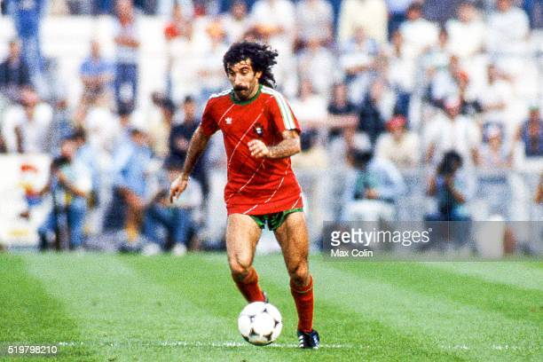 Fernando Chalana of Portugal during the Football European Championship between Portugal and Spain Marseille France on 17 June 1984