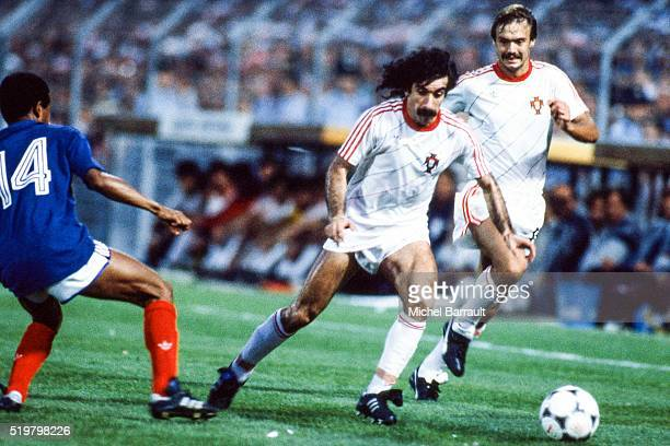 Fernando Chalana of Portugal during the Semi Final Football European Championship between France and Portugal Marseille France on 23 June 1984