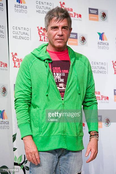 Fernando Ciangherotti at the press conference to present the mexican theater play Casa Limpia at the Hellenic Cultural Center on April 1 2011 in...