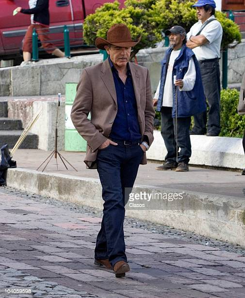 Fernando Ciangherotti in during the recording of the mexican soap opera Profugas del Amor on September 12 2010 in Real del Monte Mexico