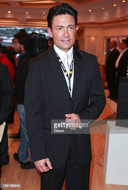 Fernando Colugna poses for a photo during the presentation of the campaign Una Gota de Agua Una Gota de Vida at Televisa San Angel on January 09 2013...