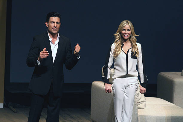 Fernando Colunga and Aylin Mujica perform in 'Obscuro Total' At Bellas Artes on March 2, 2014 in San Juan, Puerto Rico.