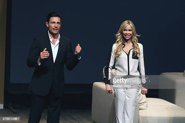 Fernando Colunga and Aylin Mujica perform in 'Obscuro Total' At Bellas Artes on March 2 2014 in San Juan Puerto Rico