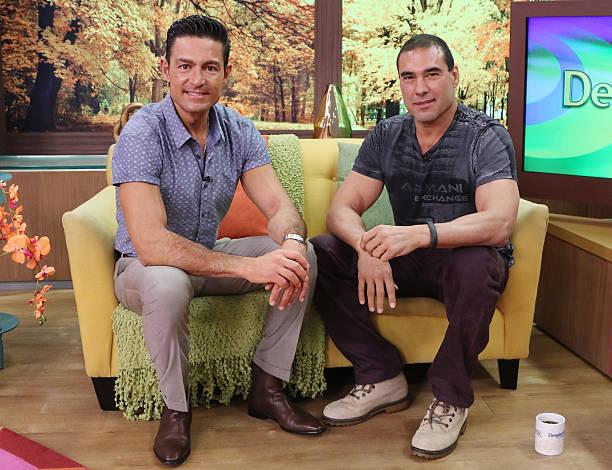 Fernando Colunga and Eduardo Yanez visit the set of
