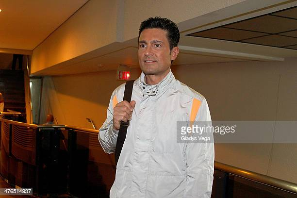 Fernando Colunga arrives to perform in 'Obscuro Total' At Bellas Artes on March 2 2014 in San Juan Puerto Rico