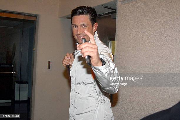 Fernando Colunga arrives to performs in 'Obscuro Total' At Bellas Artes on March 2 2014 in San Juan Puerto Rico