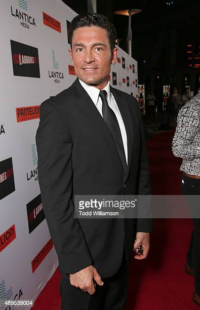 Fernando Colunga attends the Pantelion Films' Ladrones Los Angeles Premiere at the Archlight Theater on September 21 2015 in Los Angeles California