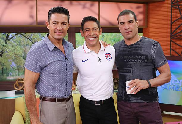 Fernando Colunga, Johnny Lozada and Eduardo Yanez are seen on the set of
