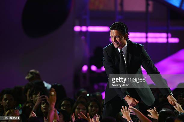 Fernando Colunga onstage during Univision's Premios Juventud Awards at Bank United Center on July 19 2012 in Miami Florida