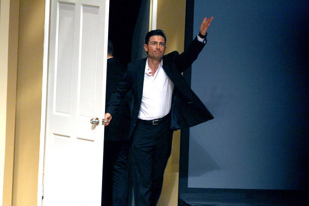Fernando Colunga performs in 'Obscuro Total' At Bellas Artes on March 2, 2014 in San Juan, Puerto Rico.